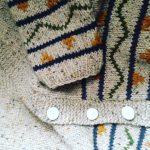 Chaqueta tejiendo a mano con 20 años