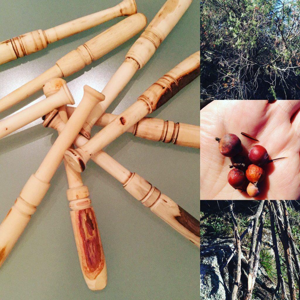 Artesania de madera para bolillos